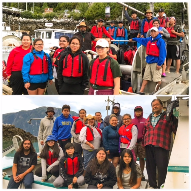 Gathering Our Strength Canoe Journey began in Gingolx this morning. Nisga'a Youth from Gitlaxt'aamiks, Gingolx, and Gitmaxmak'ay are taking part in the 2018 journey. The youth will be traveling to Gingolx - Lax Kw'alaams - Gitxaala - Metlakatla - Prince R